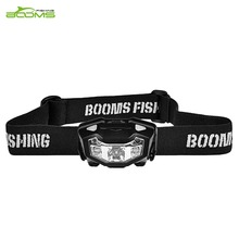 Booms Fishing AL1 LED Rechargeable Headlamp Red Light, Sensor Flash Mode Adjustable 180 lumens