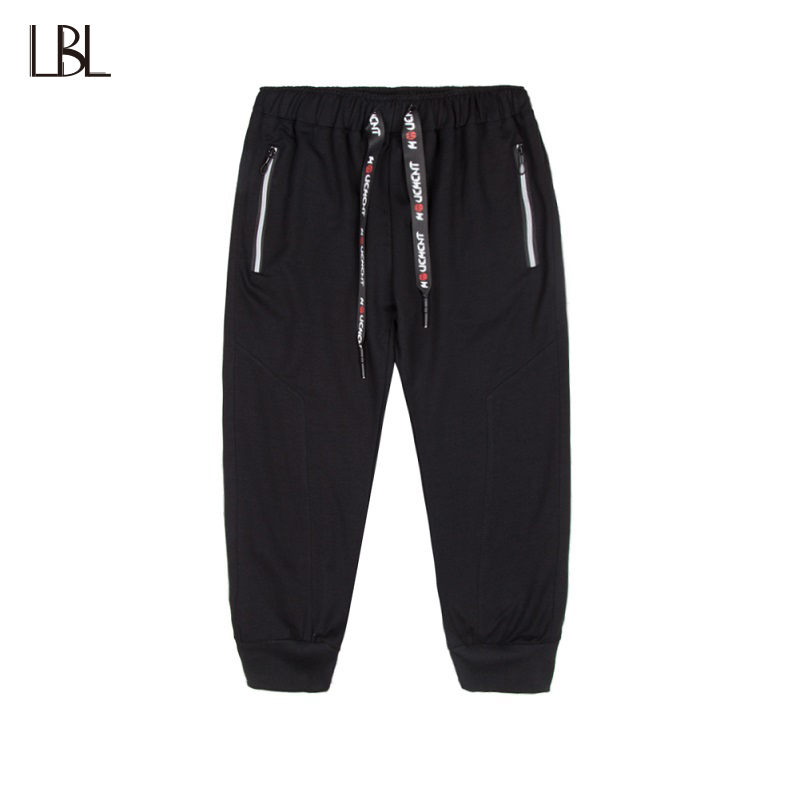Brand Casual Shorts Men Jogger Streetwear Elastic Waist Mens Knee Lenght Short Trousers Summer Fitness Clothing homme Plus Size
