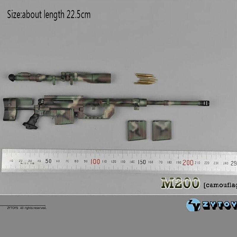 "ZY TOYS 1//6 Scale M200 Gun Modle Plastic Rifle For 12/"" Action Figure Body Black"