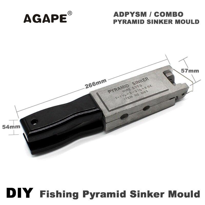 US $46 99 |Agape DIY Fishing Pyramid Sinker Mould ADPYSM/COMBO 1oz, 2oz,  3oz, 1 5oz, 2 5oz 5 Cavities-in Fishing Tools from Sports & Entertainment  on