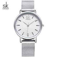 KIMIO Business Silver Mesh Band Women Watch Waterproof Ladies Quartz Wristwatches Simple Wave Dial Design relogio feminino 2016 цена