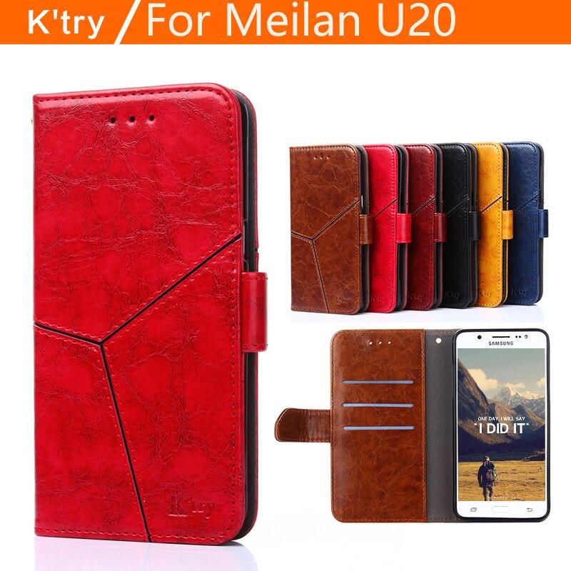 Meizu U20 cas flip couverture K'try d'origine Meilan U20 cas de silicium retour couverture en cuir coque U 20 téléphone cas dur fundas métal 5.5