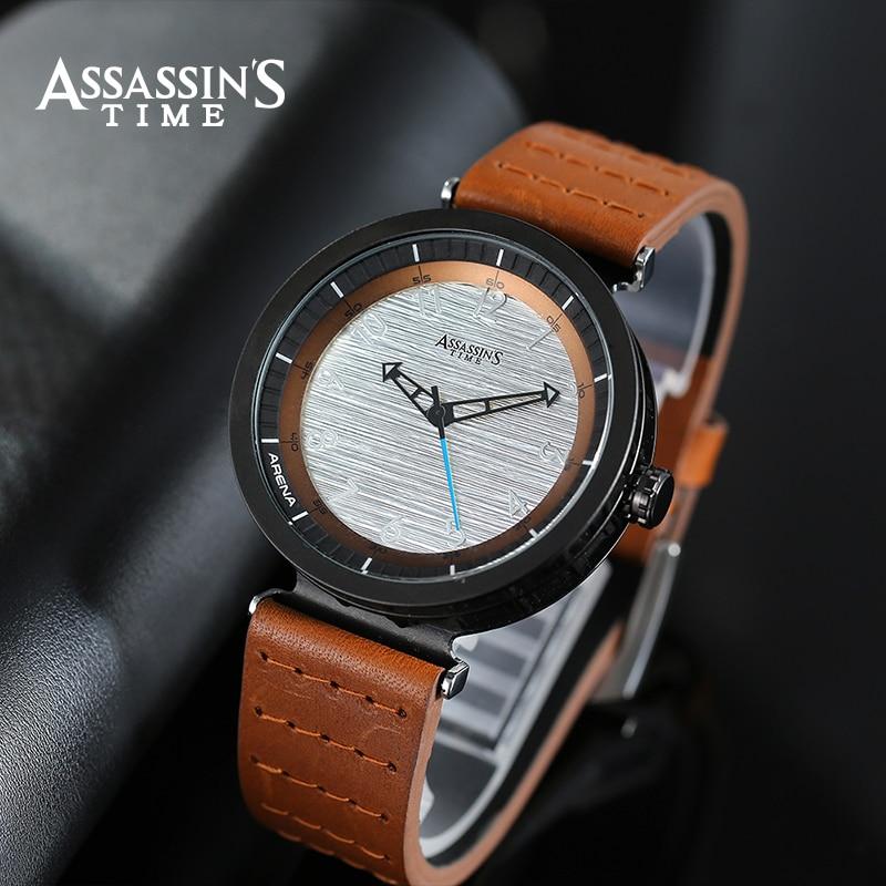 Burri Luksoz i Assassin's Time Watches Top Quartz i papërshkueshëm - Ora për meshkuj