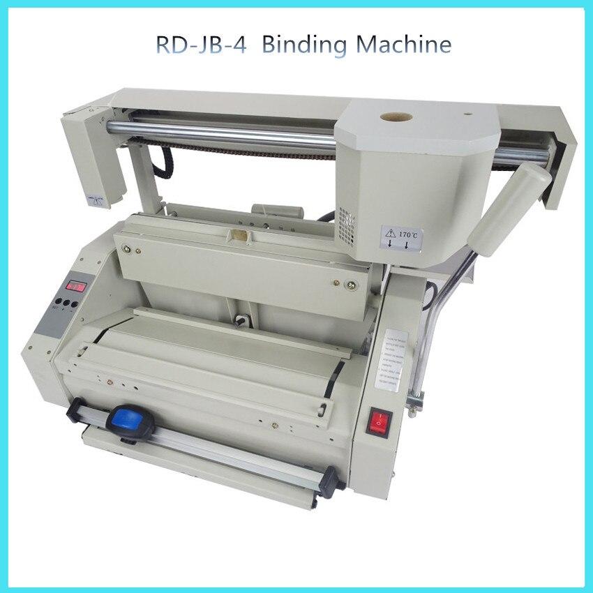 RD-JB-4 Desktop glue book binding machine glue book binder machine hot melt  glue binding machine  booklet maker  цены