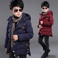 2016 new children's clothing boys winter boys cotton jacket big virgin thick padded jacket and long sections children
