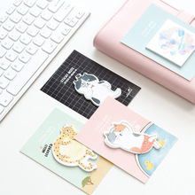 4 pcs/Lot Cute cat sticky notes Post it memo pad Fat animal planner stickers diary marker Office agenda School supplies FM705