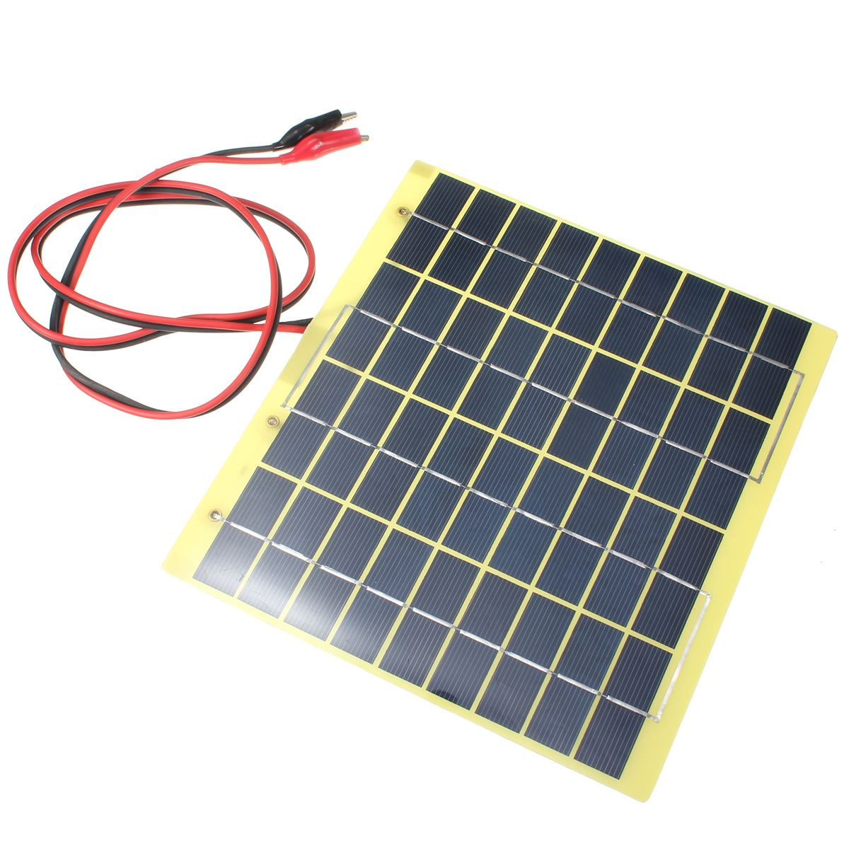LEORY Hot Sale 18V 5W Polycrystalline Silicon Solar Cell Solar Panel+Crocodile Clip Diy Solar System for Battery Charger