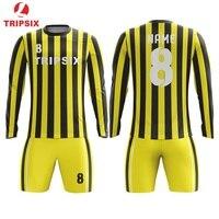 Full Sublimation Custom Long Sleeve Soccer Jersey Shirts Camisa Futebol Magliette Da Calcio Print Maillot De Foot