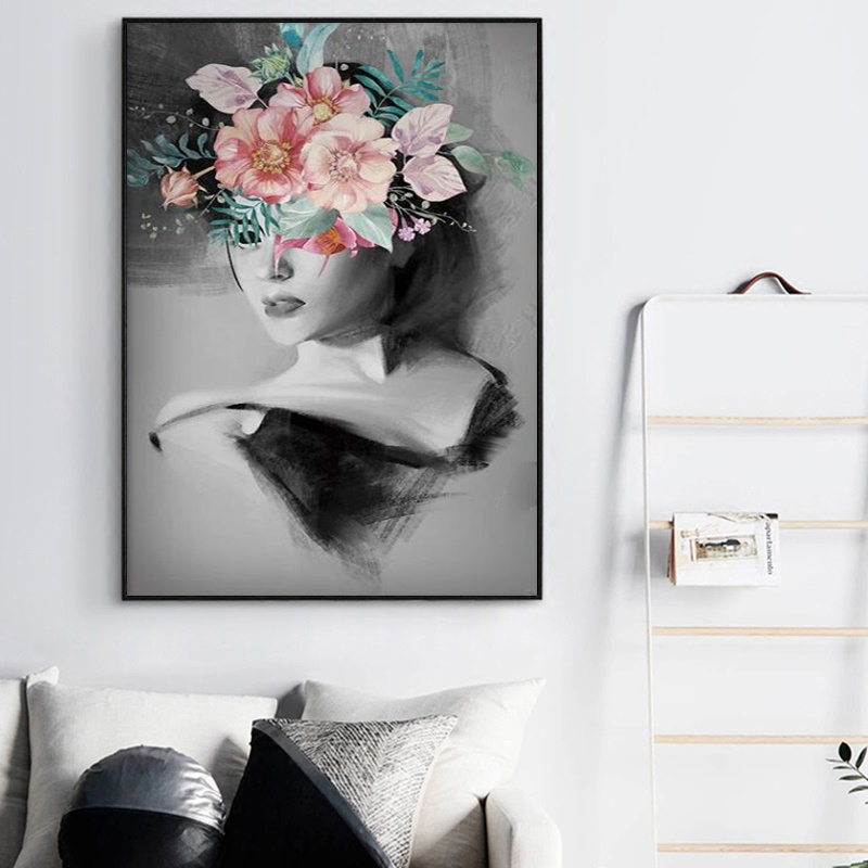 Nordic Decoration Home Poster Minimalist Modern Illustration Creative Beauty Flower Painting Modular Canvas Art Wall Pictures