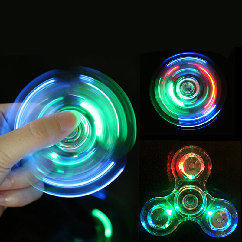 Shake Light Fidget Hand Spinner Colorful Lighting For Autism And ADHD Finger Spinner Anti Stress Gift