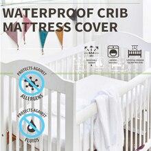 Кроватки 72X132 см ребенок наматрасник все природные Водонепроницаемый Топпер Стиль на резинке против пота Матрас протектор