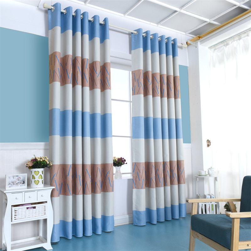 Blue And Brown Striped Bedroom popular blue striped curtain-buy cheap blue striped curtain lots