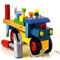Kid's Soft Montessori Tooling Pretend Play Wooden Truck Toy Set with Screw & Nut DIY handmake assembly High Quality gift