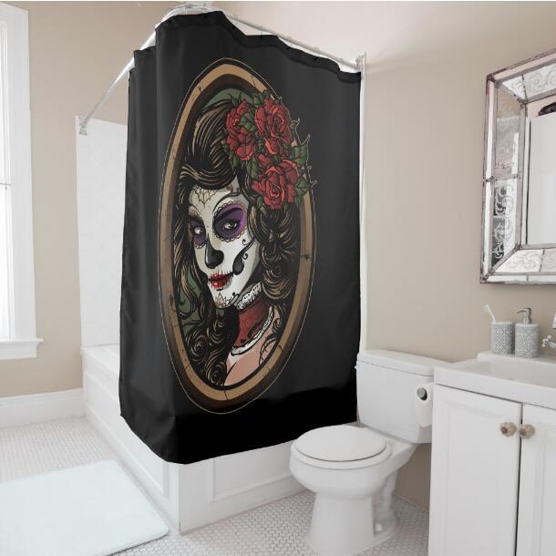 Dead Skull Bathroom Curtain
