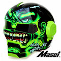 2016 Green Giant Hulk MASEI 610 motorcycle helmet IRONMAN Iron Man helmet half helmet open face helmet casque motocross
