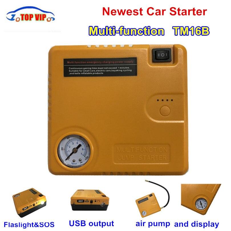 купить TM16B Newest Car Starting Device Power Bank Car Charger Booster Emergency Battery Quick Jump Starter Electric Inflatable Pump по цене 4546.99 рублей