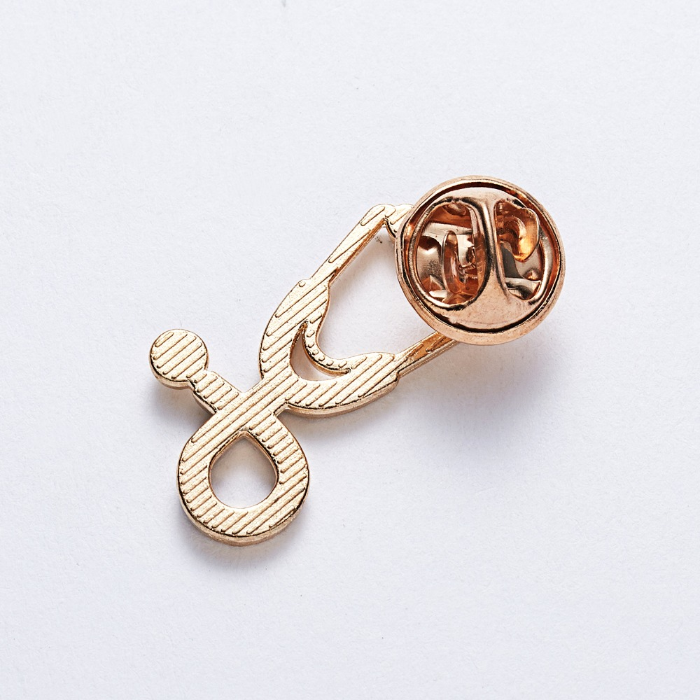 New Cute 2 Styles Brooches Pins Doctor Nurse Stethoscope Brooch Medical Jewelry Enamel Pin Denim Jackets Collar Badge Pins in Brooches from Jewelry Accessories