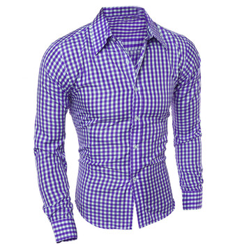ISHOWTIENDA Men Shirts Long Sleeve  Cotton Business Casual Shirt Men Long Sleeved High Quality Fashion#W35