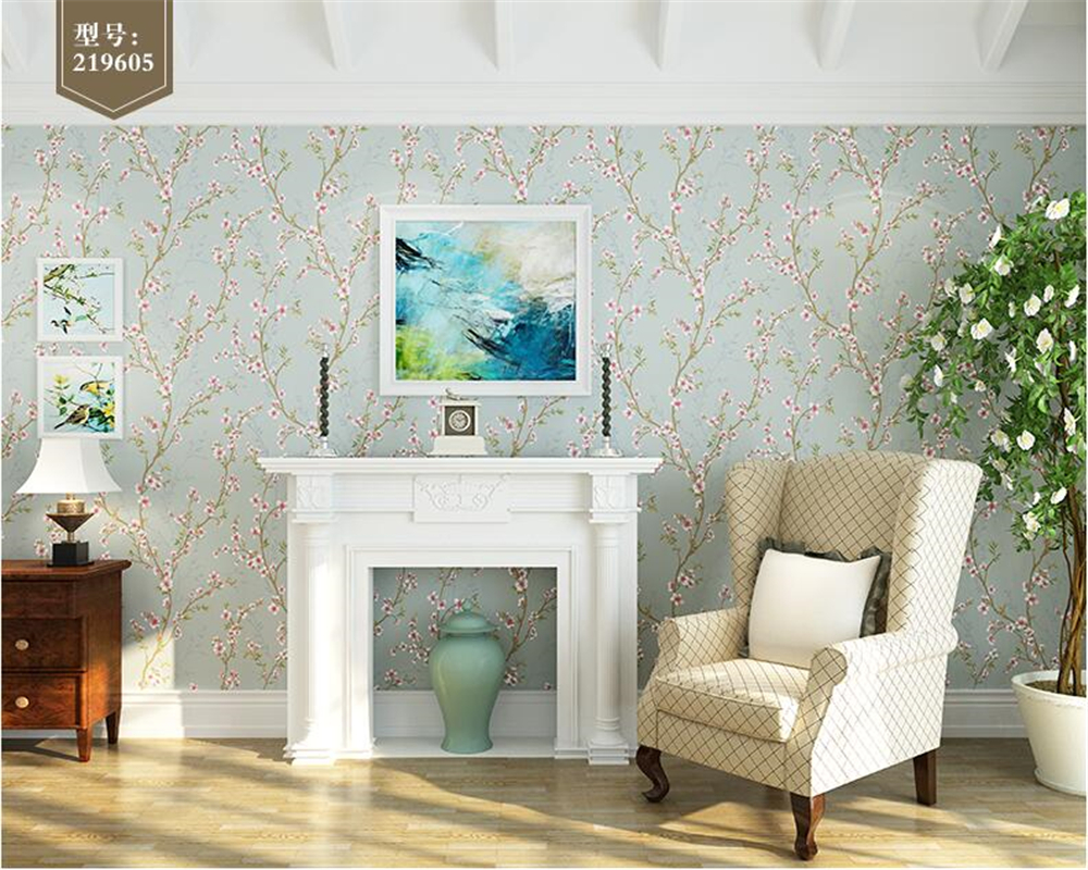 beibehang Personality Country Wallpaper Bedroom Full House Living Room Sofa Background Nonwoven 3d Wallpaper Pastoral Flower full house