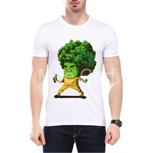 2018 Summer Men T-shirt Nunchakus Cauliflower Design T Shirt Short Sleeve Hipster Cool Kung Fu Fitness T-Shirt L1-C-71