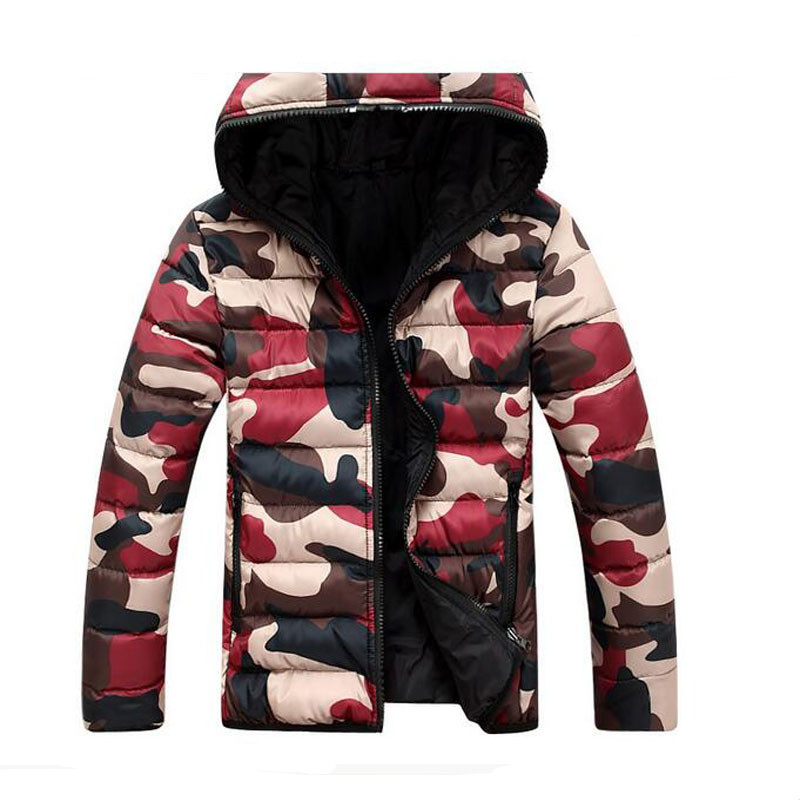2016 new winter jacket Korean men's camouflage coat thick winter coat jacket men's casual comfort lovers WZ206