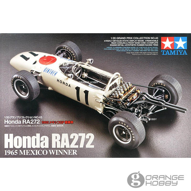 OHS Tamiya 20043 1/20 RA272 1965 <font><b>Mexico</b></font> Winner Scale Assembly Car Model Building Kits <font><b>oh</b></font>