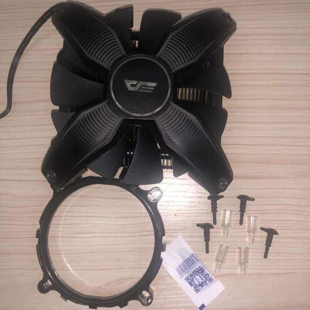 Darkflash Aigo LED CPU soğutucu radyatör TDP 280W ısı emici sessiz 120mm 4Pin PC CPU soğutma LGA1155/ 1156/1151/AM2/AM3/AM3 +/AM4