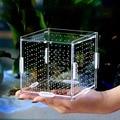 Aquarium aquarium isolation box acryl guppies isolation box schlüpfen box braten kleine fisch jungfische Betta fisch zucht box-in Aquarien und Becken aus Heim und Garten bei