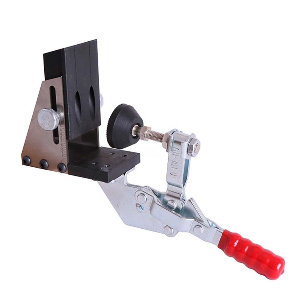 Outil de perçage Oblique pour le travail du bois Guide de perforateur Guide de perçage incliné outil de perçage de gabarit pince et pas de foret Kit de charpentier