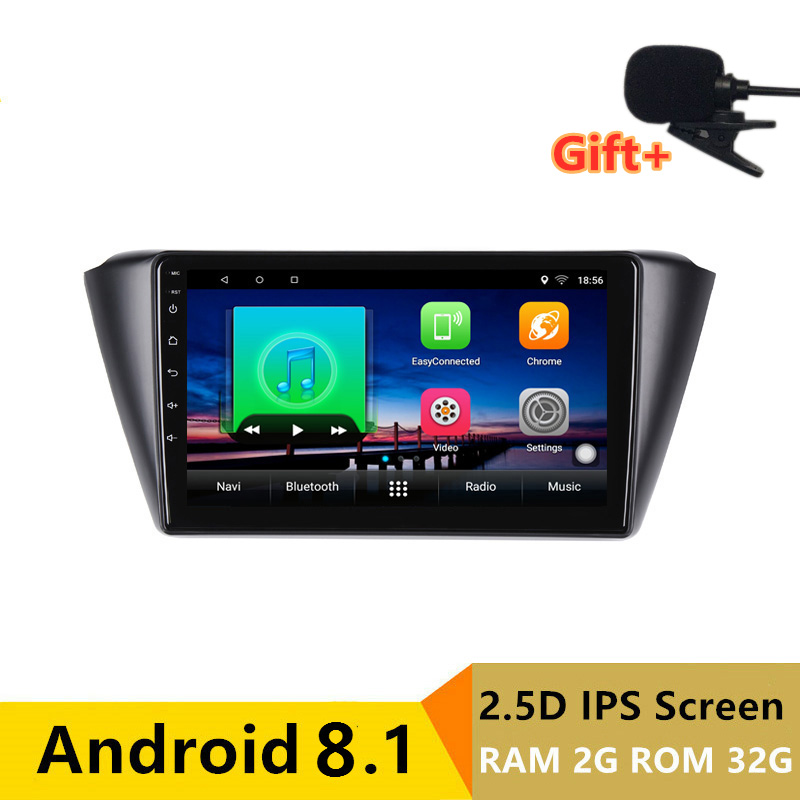 "9"" 2+32G 2.5D IPS Android 8.1 Car DVD Multimedia Player GPS For Skoda Fabia 2015 2016 2017 audio car radio stereo navigation"