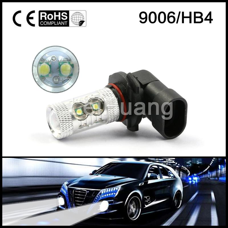 2X 50W Super Bright 10 SMD 9006 HB4 Vehicle LED White Day Driving Fog Light    Chip Car Led Bulb Lamp super bright h7 8 led white car vehicle bulb fog driving daytime light lamp 12v free shipping