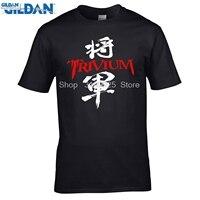 GILDAN Men Fashion Brand T Shirt 2017 New Arrivals Men S Trivium Kanji Japan Logo Metal