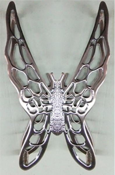 1pair Luxury 400mm Red Bronze Zinc Alloy Butterfly Furniture Big Door Handles & Glass Door Pulls Knobs Kitchen Cabinet Handle square shaped stylish crystal zinc alloy stud earrings black bronze pair