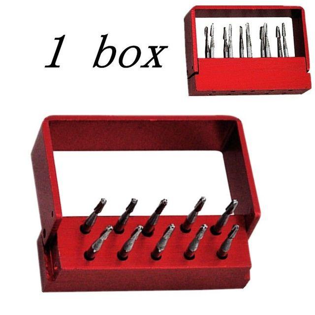 O Envio gratuito de 10 pçs/caixa Dental brocas De Aço De Tungstênio/brocas Para Fg-1957 peça de mão de Alta velocidade