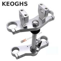 Keoghs Motorcycle Triple Trees With Clamp And Bearing Cnc Aluminum For Monkey Bike Dirt Bike Motocross Modify