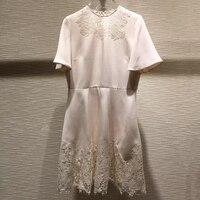 Летние милые Для женщин платья Многоцветный элегантный с длинным рукавом Высокая Талия 2019 линия Chic платье Женский Галстук шеи платье