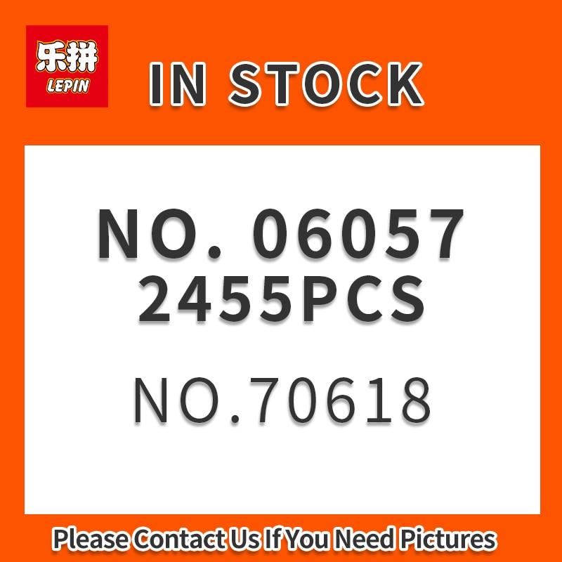 En Stock Lepin Ninja 06057 ultime combat de la prime du destin 2455 pièces anime figurines action construction LEPIN bloc briques jouets Modle