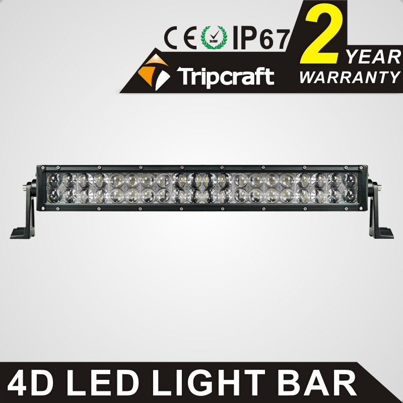 TRIPCRAFT 120W led work light bar 4D 20inch 6000k car driving lamp offroad 4x4 truck ATV SUV 4WD spot flood combo beam fog light tripcraft 72w led work light bar quad row spot flood combo beam car driving lamp for offroad 4x4 truck atv suv fog lamp 6 75inch