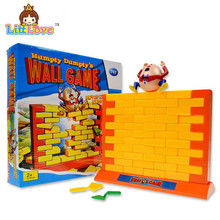 LittLove 2017 Funny Gadgets Push Wall Board Game Demolish Creative Wall Humpty Dumpty Game Parent-Child Interactive Toy