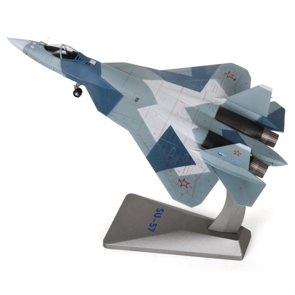 Suitable for office decoration collection fighter model helicopter die casting for children 1/72 Su-57 Childrens Day giftSuitable for office decoration collection fighter model helicopter die casting for children 1/72 Su-57 Childrens Day gift