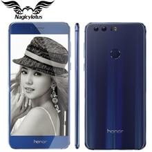 Original huawei honor 8 4g lte teléfono móvil mtk6592 octa core 5.2 pulgadas FHD 4 GB 32 GB Android 6.0 12 MP 8MP 3000 mAh Huella Digital NFC