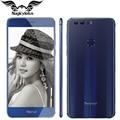 Original huawei honor 8 4g lte mobile phone mtk6592 octa núcleo 5.2 polegadas FHD 4 GB 32 GB Android 6.0 12 MP 8MP 3000 mAh Impressão Digital NFC