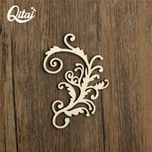 QITAI 15Pcs/Box Special Classical Vine Flowers Plants Laser Cut Wooden Shape home decoration European Style for children Wf246