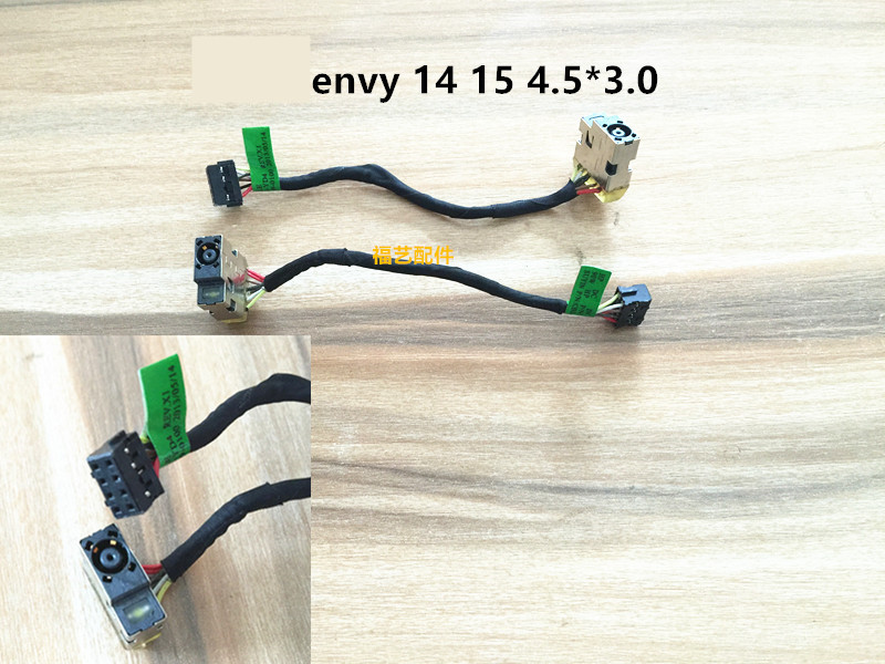 New Laptop DC Power Jack Power Cable For HP envy 14 15 Fit For envy14 envy15 4.5*3.0 new laptop adapter for for hp envy x2 20w 15v 1 33a