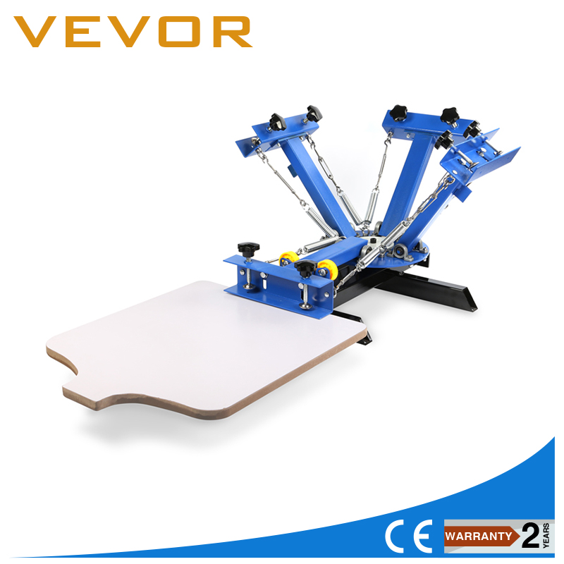 4 Color 1 Station Silk Screen Printing Machine 4-1 Press DIY T-Shirt Printing t shirt screen printing machine