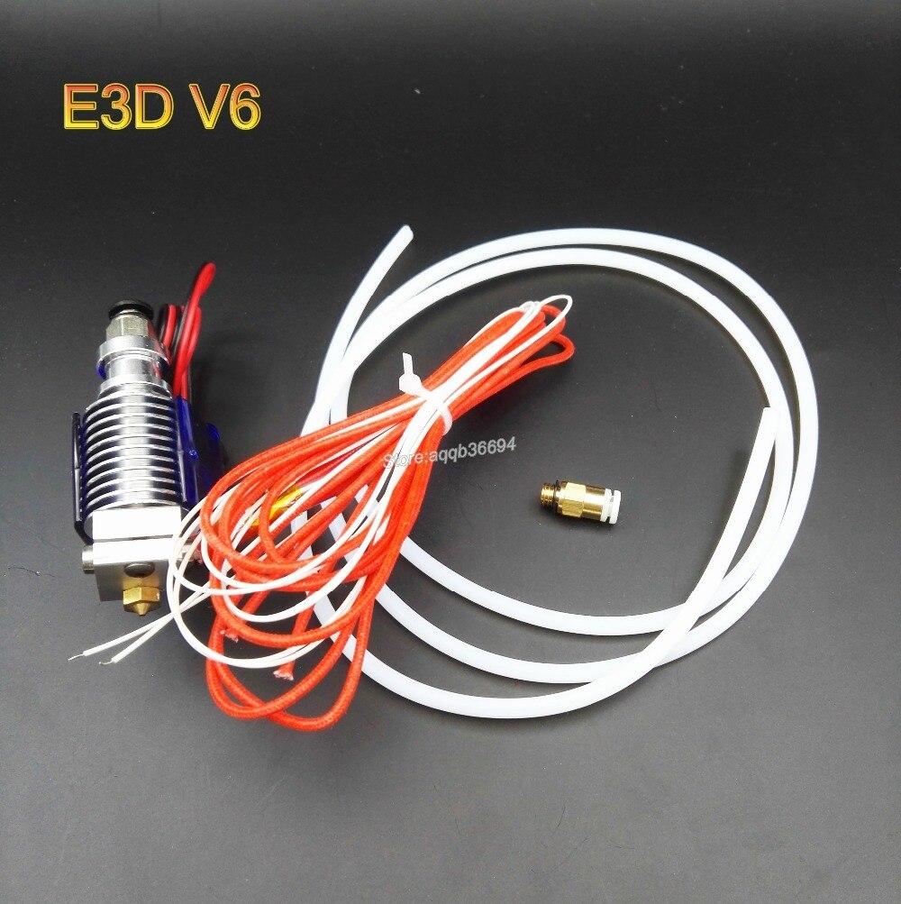 E3D-V6 HotEnd Full Kit - 1.75mm 0.2mm/0.3mm/0.4mm/0.5mm of nozzles 12V Bowden for RepRap 3D Printer Extruder j-head