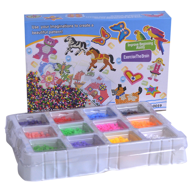 4000PCS Fuse Beads Perler 5mm Educational Box Set Kids Diy Toys Fuse bead Plussize Children Kids Toy GIFT