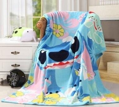 Домашний текстиль с изображением мультфильма Ститч Печатный мультфильм одеяло для детей подарок Дораэмон стежок коралловый флис одеяло бр...
