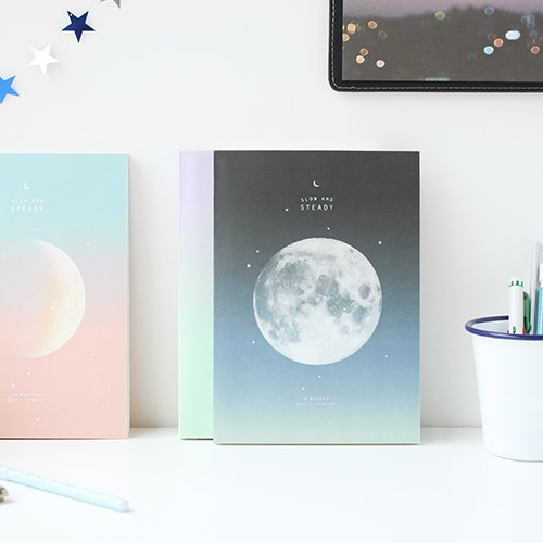 The Lovely Planet Theme 4 Months Study Planner Book 192P Undated Agenda Korean Fashion Stationery