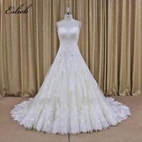 Lace Appliques Wedding Dresses 2017 Ivory Vestido Noiva Praia Simple White Tulle Casamento Sashes Bridal Gown